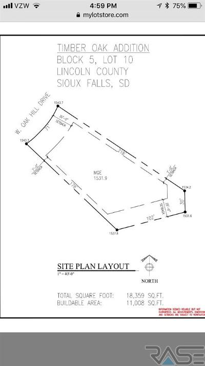 Sioux Falls Residential Lots & Land For Sale: 2601 W Oak Hill Dr