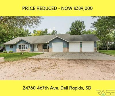 Dell Rapids Single Family Home Active-New: 24760 467th Ave