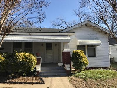 Chattanooga TN Single Family Home For Sale: $68,000