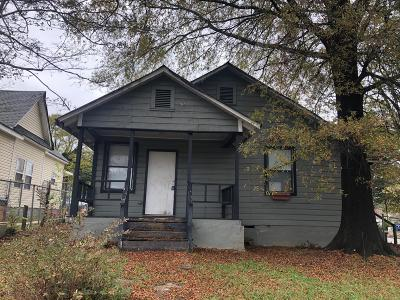 Chattanooga TN Single Family Home For Sale: $47,250