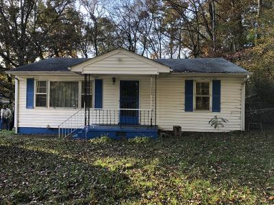 Chattanooga Single Family Home For Sale: 1605 Agnes Ave