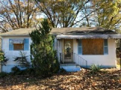 Chattanooga TN Single Family Home For Sale: $44,900