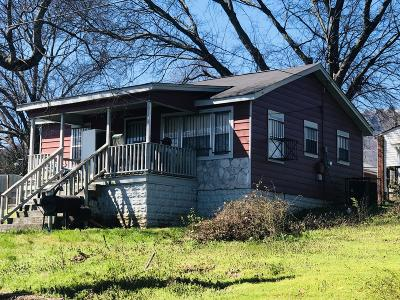 Chattanooga TN Single Family Home For Sale: $60,000