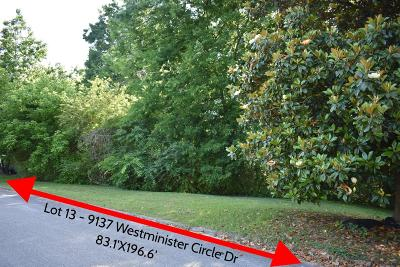 Chattanooga Residential Lots & Land For Sale: 9127 Westminister Circle Dr #Lot 13