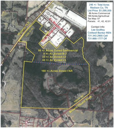 Commercial Lots & Land For Sale: Hwy 70 E & Browns Church Rd