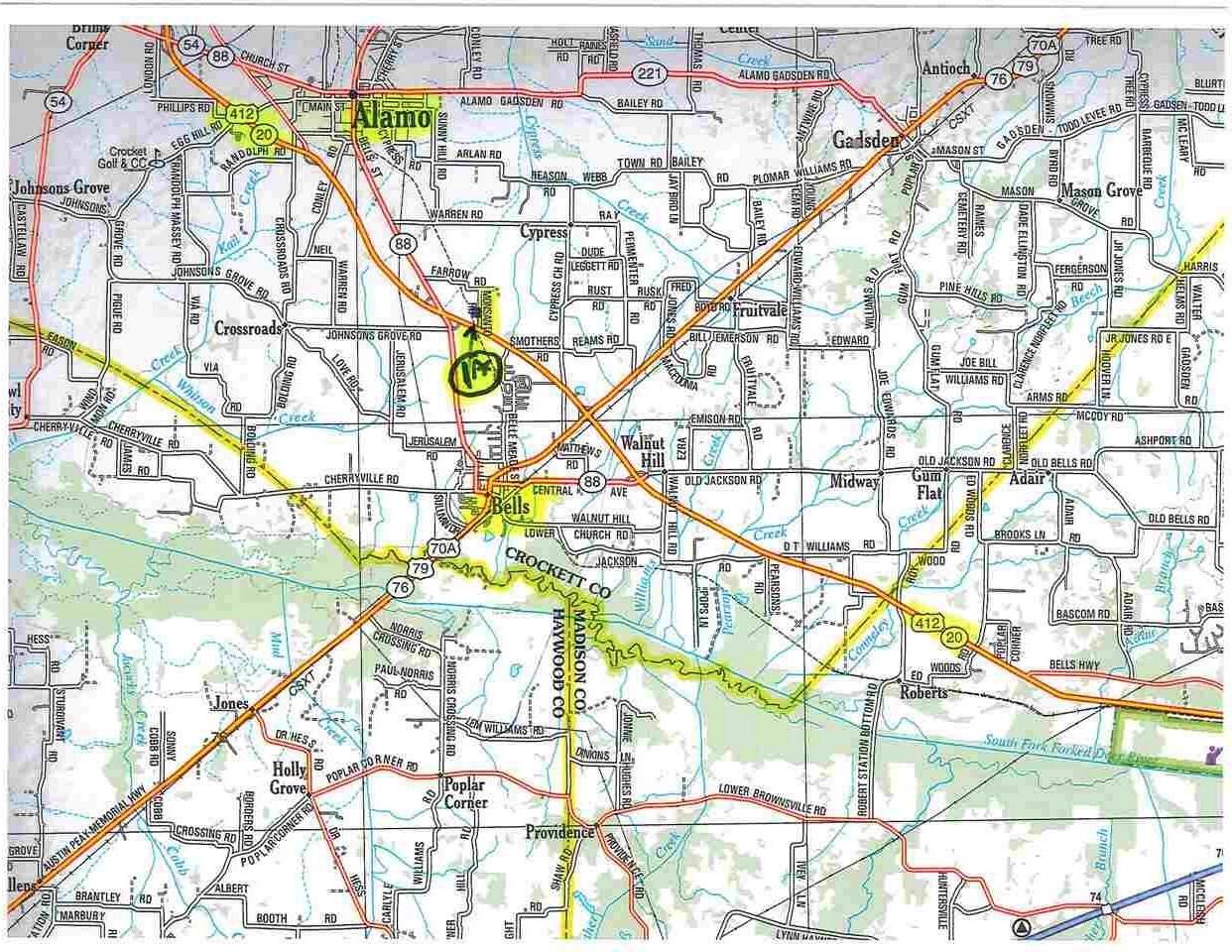 Bells Tennessee Map.Listing 67 Monsanto Bells Tn Mls 172043 Milan And Trenton