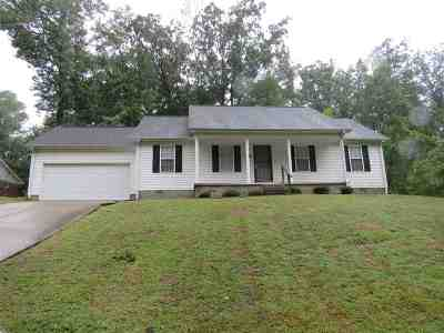 Jackson TN Single Family Home Back On Market: $89,900