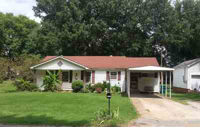 Milan TN Single Family Home For Sale: $74,500