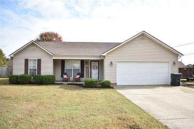 Dyersburg Single Family Home For Sale: 852 Blake Cv
