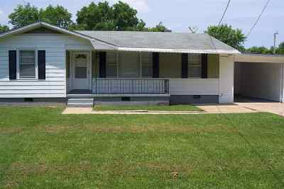 Milan TN Single Family Home For Sale: $62,500