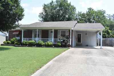 Dyersburg Single Family Home For Sale: 1820 Sam Houston