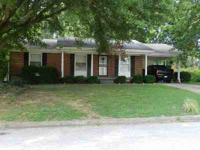 Trenton TN Single Family Home For Sale: $79,900