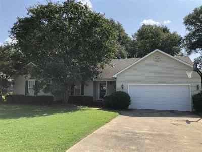Dyersburg Single Family Home For Sale: 836 Sandra