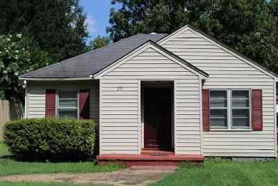Crockett County Single Family Home For Sale: 277 S Johnson
