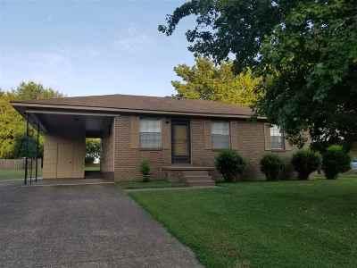 Dyersburg Single Family Home For Sale: 2123 Volunteer