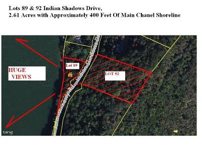 Meigs County, Rhea County, Roane County Residential Lots & Land For Sale: 89&92 Indian Shadows Drive