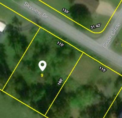 Anderson County, Campbell County, Claiborne County, Grainger County, Hancock County, Hawkins County, Jefferson County, Union County Residential Lots & Land For Sale: Skyview Drive