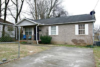 Knoxville TN Single Family Home For Sale: $87,400
