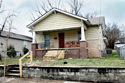 Knoxville TN Single Family Home For Sale: $57,700