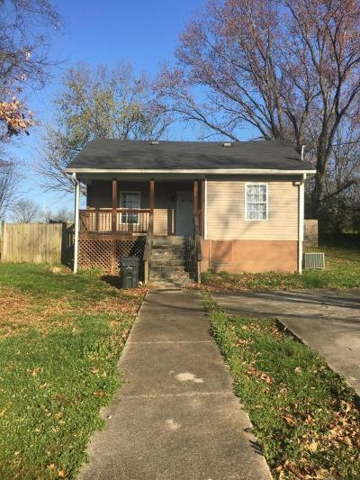 Knoxville TN Single Family Home For Sale: $55,000