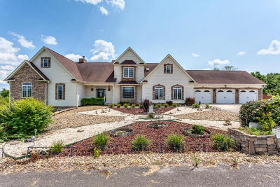 Bean Station, Thorn Hill, Rutledge, Washburn, Blaine Single Family Home For Sale: 1107 Cliff Top (5.8 Acres) Rd