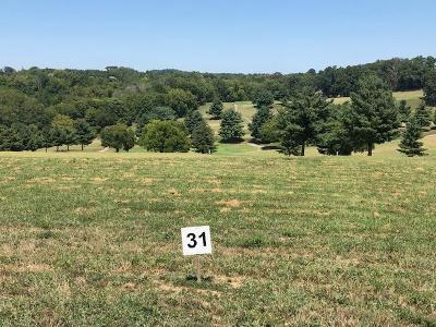 Anderson County, Campbell County, Claiborne County, Grainger County, Hancock County, Hawkins County, Jefferson County, Union County Residential Lots & Land For Sale: Lot 31-Fairway Drive