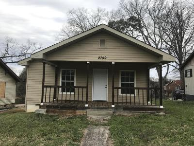Knoxville Single Family Home For Sale: 2759 Wilson Ave