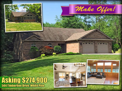 White Pine Single Family Home For Sale: 504 Timberline Drive