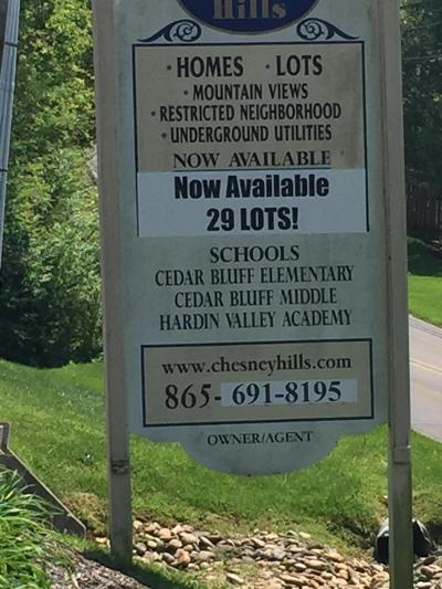 Knoxville Residential Lots & Land For Sale: 9853 Chesney Hills Lane