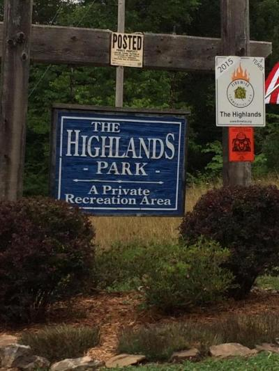 The Highlands Residential Lots & Land For Sale: Highland Trace Road