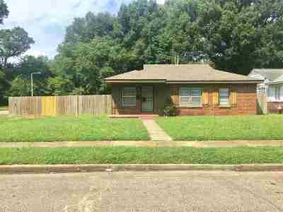 Memphis TN Single Family Home For Sale: $62,000