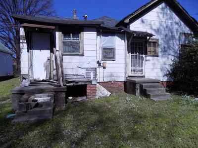 Memphis TN Single Family Home For Sale: $9,900