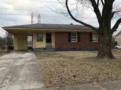 Memphis TN Single Family Home For Sale: $41,900