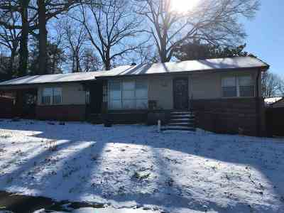 Memphis TN Single Family Home For Sale: $37,900