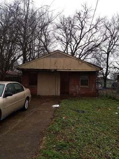 Memphis TN Single Family Home For Sale: $12,500