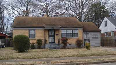 Memphis TN Single Family Home For Sale: $57,785