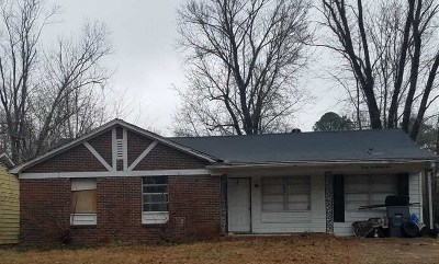 Memphis TN Single Family Home For Sale: $29,000
