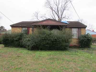 Memphis TN Single Family Home For Sale: $30,000