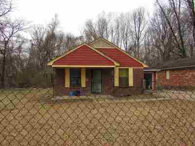 Memphis TN Single Family Home For Sale: $31,800