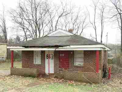 Memphis TN Single Family Home For Sale: $10,000