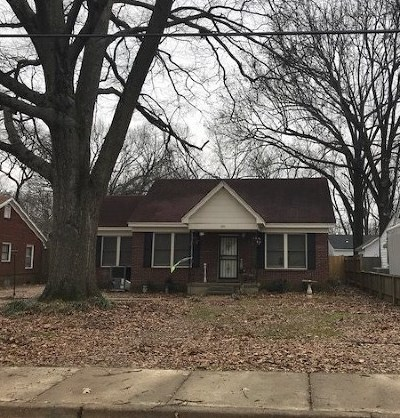 Memphis TN Single Family Home For Sale: $52,000