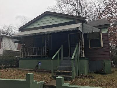 Memphis TN Single Family Home For Sale: $16,500