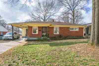 Memphis TN Single Family Home For Sale: $136,900