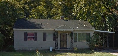 Memphis TN Single Family Home For Sale: $56,900