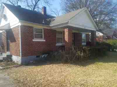 Memphis TN Single Family Home For Sale: $26,900