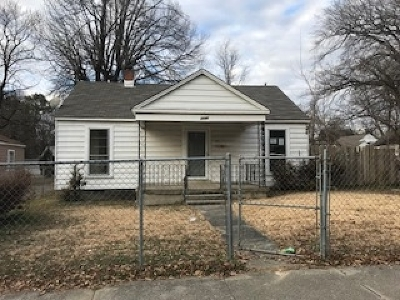 Memphis TN Single Family Home For Sale: $14,000