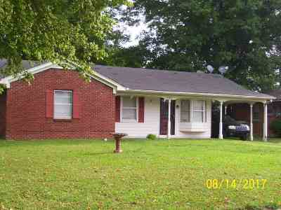 Memphis TN Single Family Home For Sale: $69,500