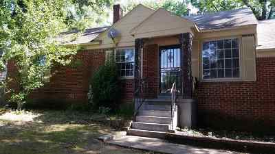 Memphis TN Single Family Home For Sale: $60,000