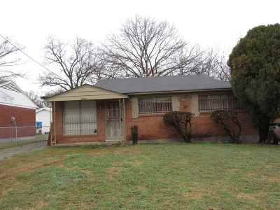 Memphis TN Single Family Home For Sale: $22,000