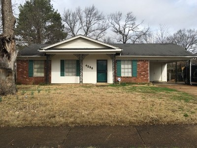 Memphis TN Single Family Home For Sale: $59,900